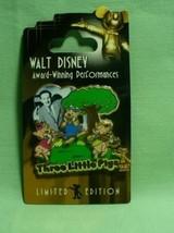 Disney Award Winning Performances 3 Little Pigs LE Pin - $21.95