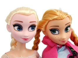 Mode Barbie Puppen Anna Elsa Prinzessin Queen Barbie Puppe setzt Puppe S... - $20.99