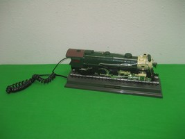 Telemania Locomotive Engine Push Button Green Telephone Crescent 1925 - $23.33