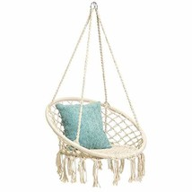 Hammock Swing Chair for 2-16 Years Old Kids,Handmade Knitted Macrame Han... - $82.76