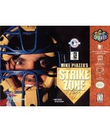 Mike Piazza's Strike Zone N64 Great Condition Fast Shipping - $9.93