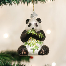 Panda Bear Glass Ornament - $19.95