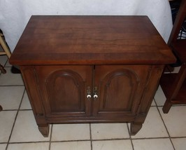 Walnut Cabinet / Nightstand / End Table by Drexel - $349.00