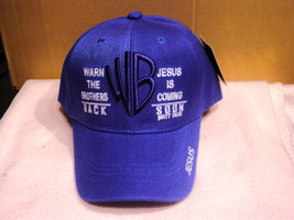 JESUS WARN THE BROTHERS BACK JESUS IS COMING GOD BASEBALL CAP ( BLUE ) - $11.65