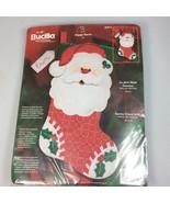 Bucilla Christmas Stocking kit Santa personalized felt Childs applique s... - $91.15