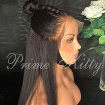 Human Hair Wigs Full Lace Wigs 150 Density Normal Yaki Straight Brazilia... - $262.92