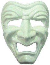 Sad mask. White, (Comedy) Tragedy Theatre Eye Mask, Masked Ball, Fancy D... - $12.96 CAD