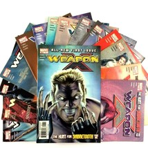 Weapon X Comic Book Lot 15 Issues Marvel VF 2002 Series #1 Sabretooth Domino - $24.70
