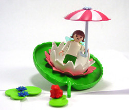 Playmobil 4198 Fairy Lily pad frog umbrellaGarden Water floating leaf toy - $17.91