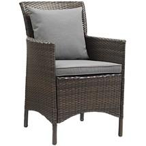 Conduit Outdoor Patio Wicker Rattan Dining Armchair Brown Gray EEI-2801-... - $242.75