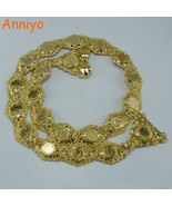 Anniyo Metal Coin Belt Women Belly Chains Jewelry Gold Color Arab Weddin... - $58.00