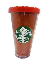 Starbucks 2016 Red Glitter Holiday Travel Tumbler 16 Oz Cold Cup Red Qui... - $9.89