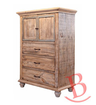 Rustic Stephen 2 Doors 3 Drawers Chest Solid Wo... - $965.25
