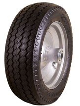 "Marathon 4.10/3.50-4"" Flat Free All Purpose Utility Tire On Wheel 3"" Cen... - $41.28"