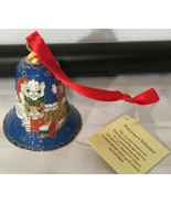 NewVintage Christmas Cats Bell Metal Enameled Cloisonne Style Ornament C... - $19.75