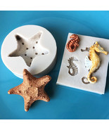 3D Seahorse&Starfish Silicone Fondant Mould Cake Decor Chocolate Sug - $10.80