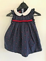 Tommy Hilfiger Baby 6-12 Mo Navy w/ Red Stars Sleeveless Jumper Dress Po... - $7.83