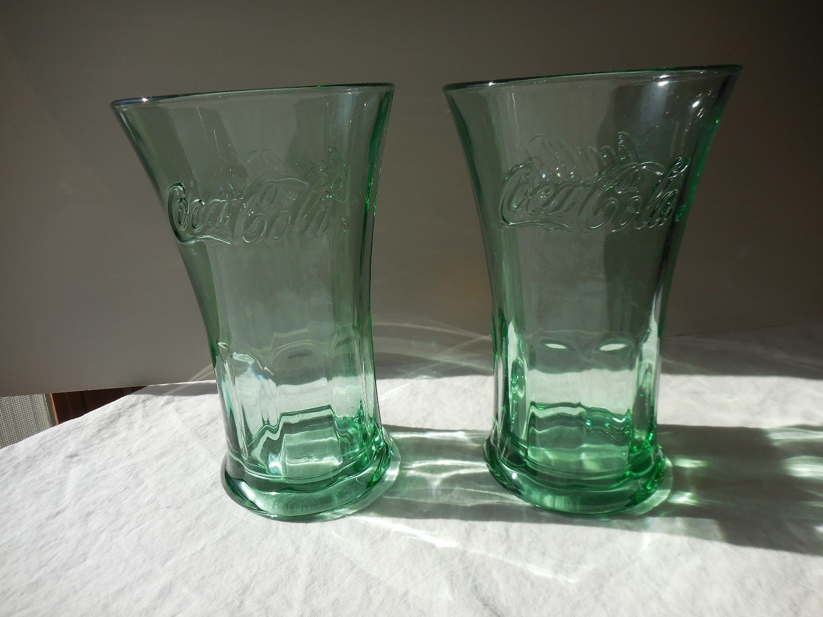 Vintage Libbey Coca-Cola Heavy Drinking Glass Handle Mug 16 Oz Clear Coke