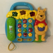 VTech Disney Winnie The Pooh Play and Learn Phone 10 Numbers Buttons Lig... - $19.99