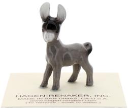 Hagen-Renaker Miniature Ceramic Donkey Figurine Burro Baby