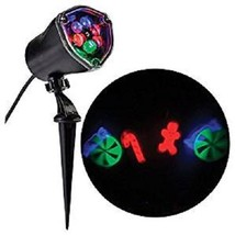 Gemmy Whirl-A-Motion LED Lightshow Projection Candy Cane mix stake light... - €11,35 EUR
