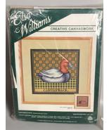 Canvasback Duck Needlepoint Kit Elsa Williams Vtg hunting lodge decor co... - $36.13