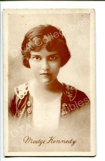 Primary image for MADGE KENNEDY-PORTRAIT-1920s-ARCADE CARD! G