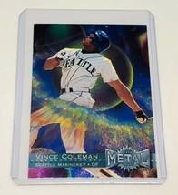 Mlb Vince Coleman Seattle Mariners 1996 Fleer Metal Baseball #105 Mint - $1.61