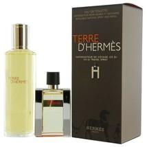 Hermes Terre D'Hermes EDT Spray Refillable 1.0 Oz & EDT Refill 4.2 Oz Gift Set image 6