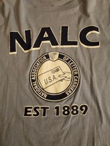 NALC Letter Carriers Postal Workers Blue T-Shirt Union USA XL - $14.01