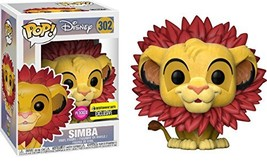 Lion King Simba Leaf Mane Flocked Pop! Figure - EE Excl. - $21.06
