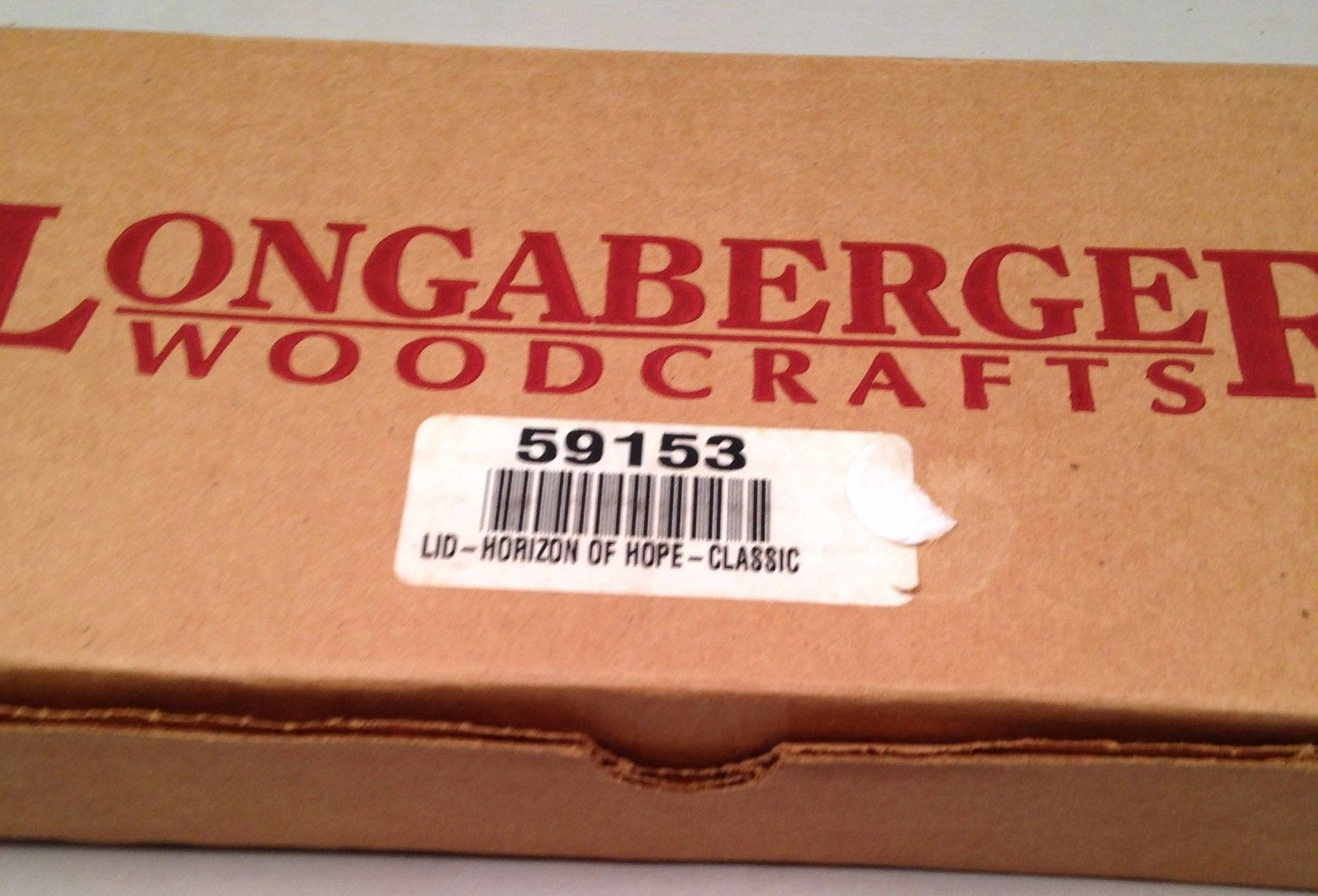 Longaberger 2000 Horizon Of Hope Classic Stain Basket Lid ~ New in Box