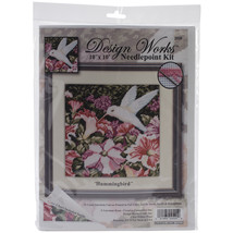 "Design Works Needlepoint Kit 10""X10""-Hummingbird-Stitched In Yarn - $28.71"