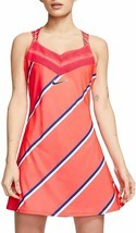 Nike Women's Slim Fit Large L Tennis Court Dress Bright Orange CI9225 644 - £61.00 GBP