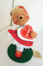 "1995 Annalee 10"" Be Mine Girl Bear Valentine w/Tag & Hang Tag - $18.99"