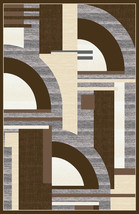 PREMIUM 3D Hand Carved Modern 5x8 5x7 Rug Contemporary 5395 Brown Gray Grey - $119.00