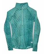 Under Armour Qualifier Printed 1/2 Zip Running Top 1251616 Green Large &... - $27.96