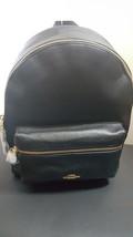 NWT New Coach Medium Charlie Backpack Bookbag Leather Black F30550 - $178.19