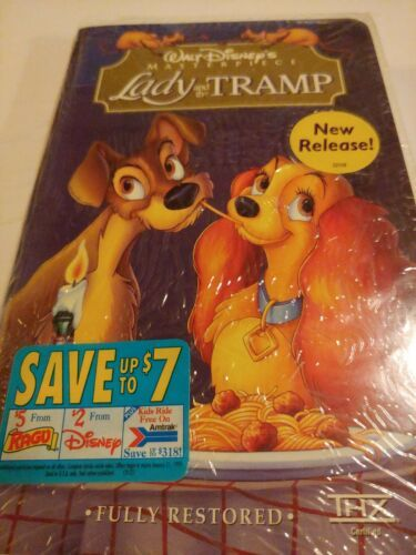 Lady and the Tramp (VHS, 1998, Clam Shell) New Sealed Fully Restored