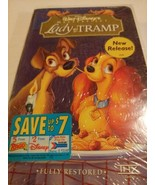 Lady and the Tramp (VHS, 1998, Clam Shell) New Sealed Fully Restored - $19.75