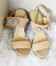 "Jessica Simpson Women's Sandals High Heeled Beige Suede Size 9M- 4 1/2"" ... - $18.69"