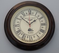 Wooden Jefferson & Smith London Ship's Vintage Home Decor Wall Clock Wor... - $74.25