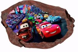 Disney Pixar Cars Lightning McQueen Mater Nursery Kids Room Rock Wall St... - $6.92+