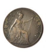 1897 1/2P Great Britain Half Penny Copper Coin KM#789 Rare - €8,07 EUR