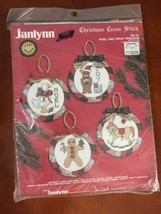 Vintage Janlynn 02-51 1987 Christmas Cross Stitch Noel Rag Wrap Wreaths (30) - $17.77