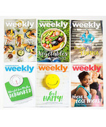 LOT OF 6 WEIGHT WATCHERS WEEKLY GUIDES JULY & AUGUST 2017 WITH RECIPES - $4.20