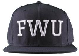 Crooks & Castles F.W.U Fu*k with Us Dark Navy Snapback Baseball Hat NWT image 1