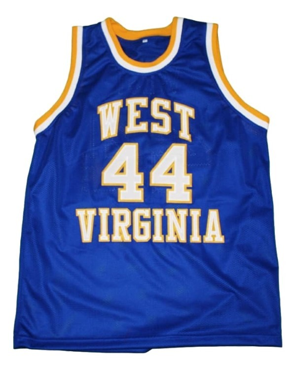 Jerry West #44 College Basketball Custom Jersey Sewn Blue Any Size