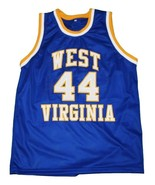 Jerry West #44 College Basketball Custom Jersey Sewn Blue Any Size - $29.99+