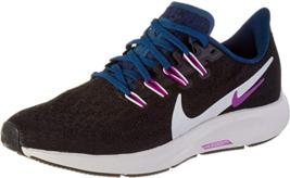 Nike Women's Air Zoom Pegasus 36 Black/Summit White/Valerian Blue 9 B - $96.81